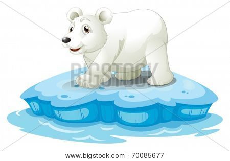 Illustration of a polar bear on iceberge
