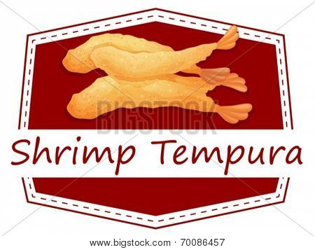 Ilustration of  a banner of shrimp tempura