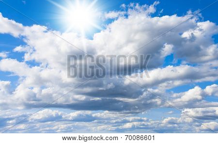 Background of Blue Grand Skyscape