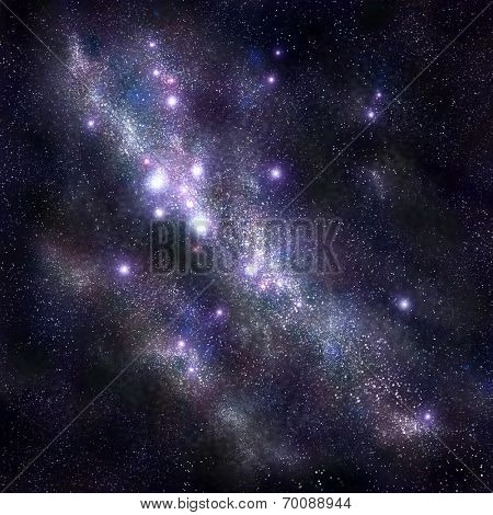 Abstract space background with stars and starfield, nebula pattern