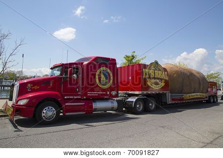 The World's Largest Potato on Wheels presented during The Famous Idaho Potato Tour in Brooklyn