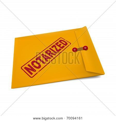 Notarized Stamp On Manila Envelope