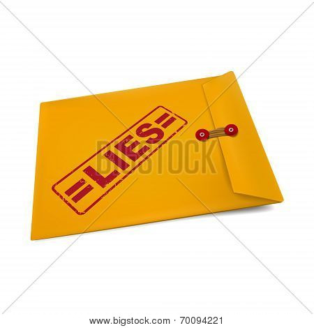 Lies Stamp On Manila Envelope