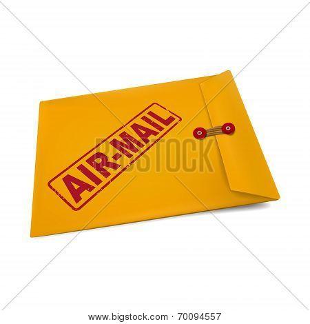 Air Mail On Manila Envelope