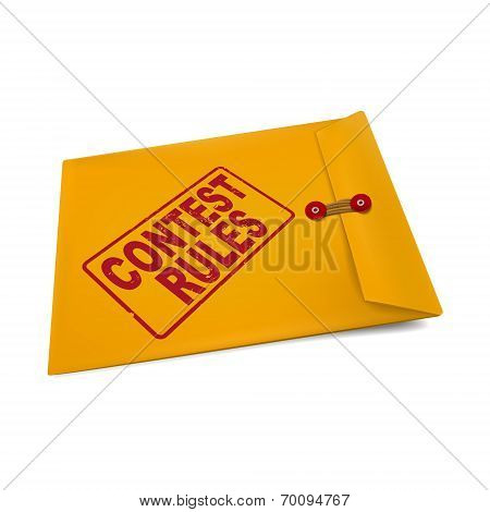 Contest Rules On Manila Envelope