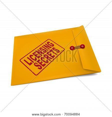 Licensing Secrets On Manila Envelope