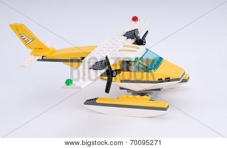 Ankara, Turkey - April 04, 2012: Lego Seaplane from side