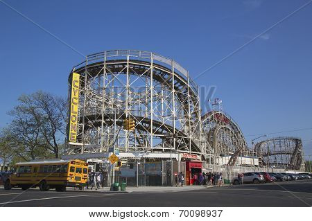 Historical landmark Cyclone roller coaster