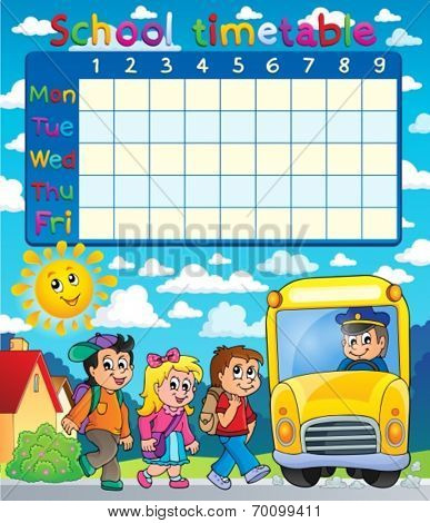 School timetable composition 6 - eps10 vector illustration.