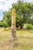 foto of obelisk  - Obelisk of Apollonia in Apollonia ruins  - JPG