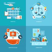 image of mixture  - Vector medical and health icons set for web design - JPG