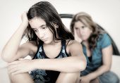 stock photo of teenagers  - Teenager conflict  - JPG
