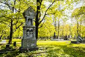 image of cemetery  - A beautiful monument in the cemetery - JPG