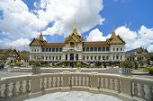 stock photo of premises  - The Thai Royal Place situated in the premises of Wat Pra Kaew Bangkok Thailand - JPG