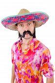 foto of sombrero  - Funny mexican with sombrero hat - JPG
