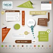 picture of line graph  - Vector infographic timeline elements  - JPG