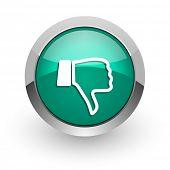 pic of dislike  - dislike green glossy web icon - JPG