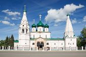 stock photo of prophets  - The ancient Church of Elijah the Prophet in Yaroslavl Russia - JPG