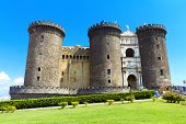foto of turret arch  - The medieval castle of Maschio Angioino or Castel Nuovo  - JPG