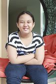 foto of 11 year old  - funny face of young children 11 years old - JPG