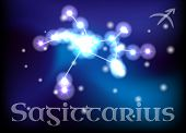 pic of sagittarius  - Sagittarius horoscope or zodiac or constellation illustration - JPG