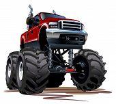 stock photo of monster-truck  - Cartoon Monster Truck - JPG