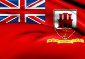 pic of gibraltar  - 3D Civil Ensign of Gibraltar - JPG