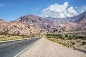 image of mendocino  - National Road 7 passing by the Department of Lujan de Cuyo in Mendoza Argentina