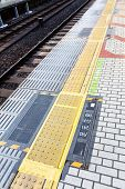 pic of railroad-sign  - image of Railroad Station Platform in tokyo japan - JPG