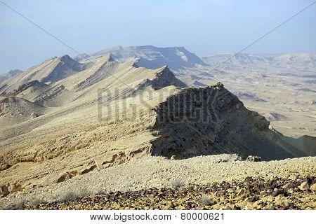 Mount Karbolet In Negev Desert