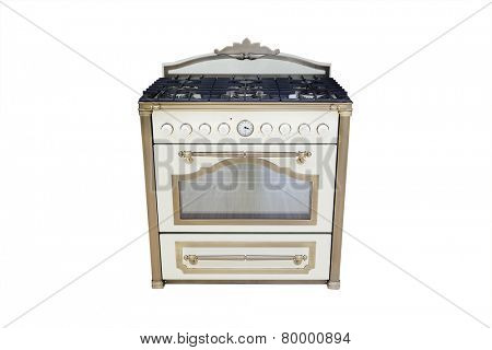 gas cooker isolated under the white background