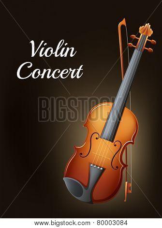 Illustration of a violin concert poster