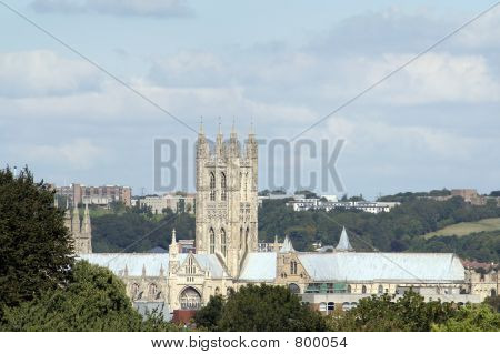 Canterbury cathedral and surroundings