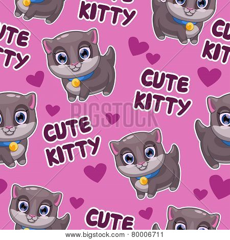 pattern with kitty
