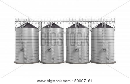 Agricultural Silo Isolated