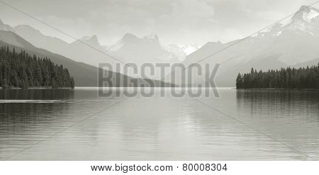 Canadian Landscape With Maligne Lake. Jasper. Alberta