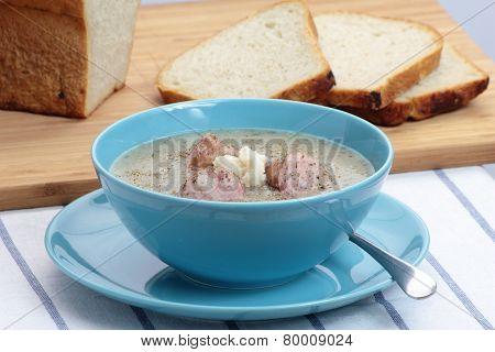 Traditional polish soup.