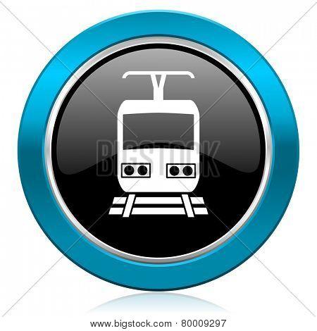 train glossy icon public transport sign