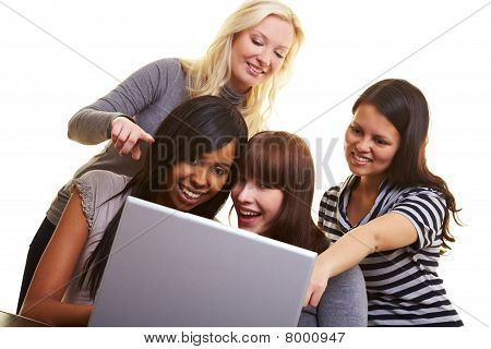 Women Surfing The Internet Together