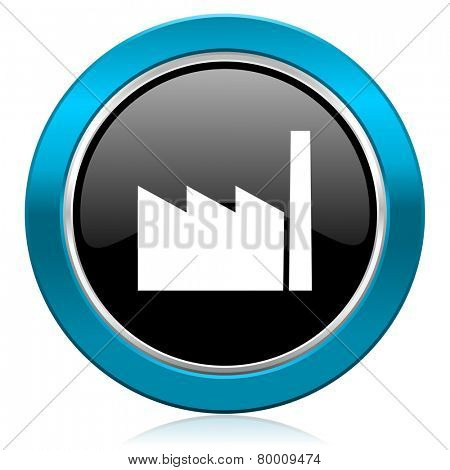 factory glossy icon industry sign manufacture symbol