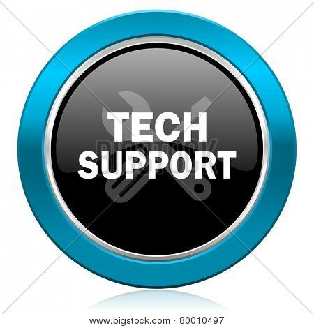 technical support glossy icon