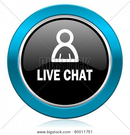 live chat glossy icon