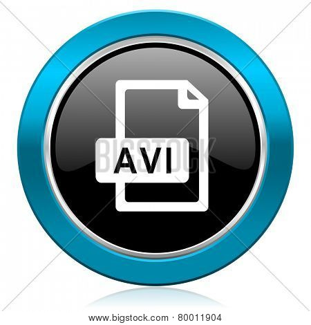 avi file glossy icon