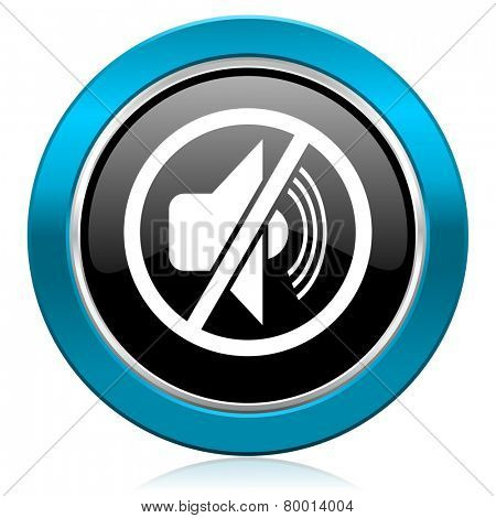mute glossy icon silence sign