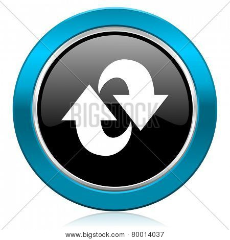 rotation glossy icon refresh sign
