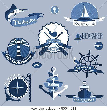 Sea Labels Set