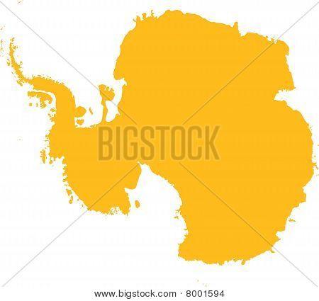 Mapa de la Antártida