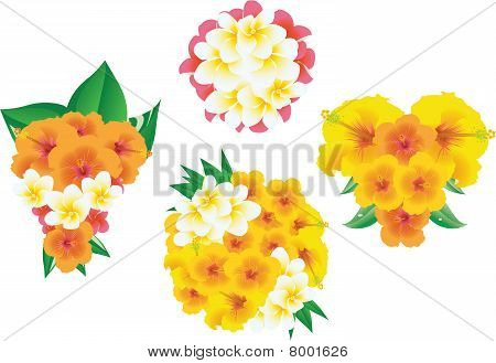 Four bouquets of flowers