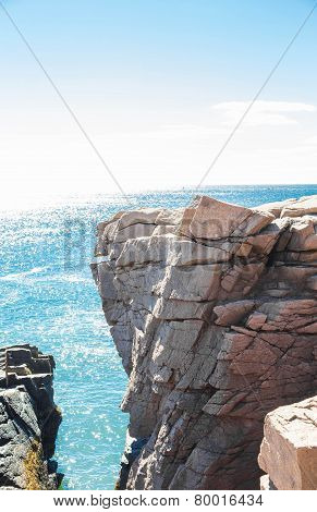 Cleft In Coastal Cliff