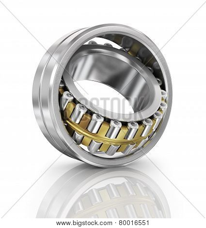 Steel Ball Bearing. Illustration On White Background.